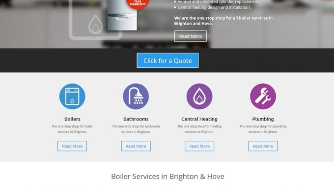 New WordPress website design for Mr Gas Boiler Services