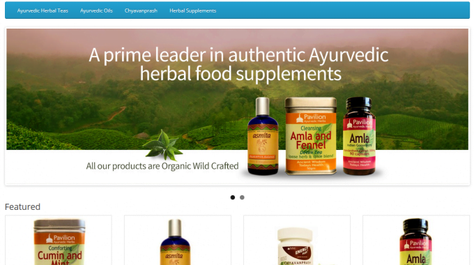 Pavilion Ayurveda Health OpenCart Store