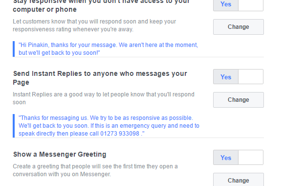 Setup Automated Responses For Your Facebook Page In Messenger