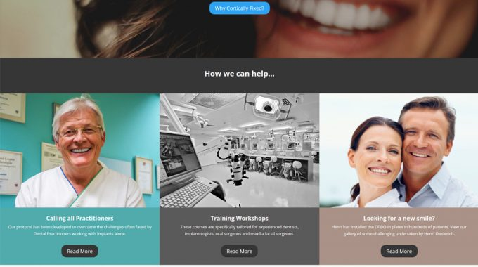 New WordPress Website For Dental Implant Business
